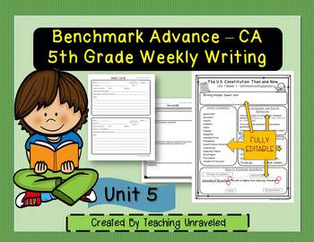 Benchmark Advance 5th Grade Unit 5 Weekly Writing