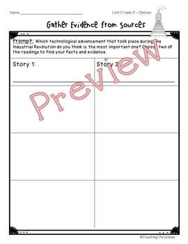 Benchmark Advance 5th Grade Unit 5 Weekly Writing