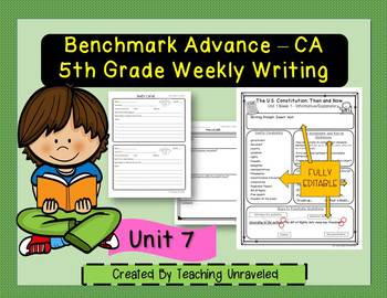 Benchmark Advance 5th Grade Unit 7 Weekly Writing