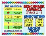 Benchmark Advance 6th Grade Annotation Anchor Chart (California and National)