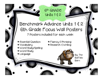 Benchmark Advance 6th Grade (SIXTH) Focus Wall Posters UNI