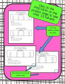 Benchmark Advance Blending Cards for 2nd Grade