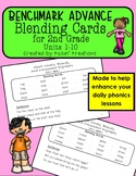Benchmark Advance Blending Cards for 2nd Grade Units 1-10 (Ca. and National)