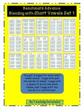 Benchmark Advance- Blending with Short Vowels Set 1