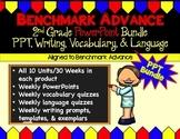 Benchmark Advance (Ca.) PPT Bundle for 2nd Grade (PPT, Writing, Vocab, Language)