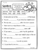 Benchmark Advance (CA) 1st Grade Spelling Activities Unit 10