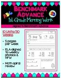 Benchmark Advance (Ca.) First Grade Morning Work - Units 1 - 10