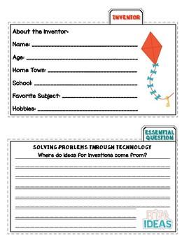 Benchmark Advance (Ca.) Second Grade Unit 5 Invention Project (Tab-it)