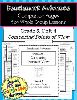 Benchmark Advance Texts for Close Reading Companion Pages * Grade 3, Unit 4