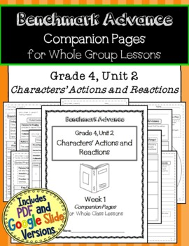 Benchmark Advance Texts for Close Reading Companion Pages * Grade 4, Unit 2