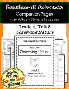 Benchmark Advance Texts for Close Reading Companion Pages * Grade 4, Unit 3