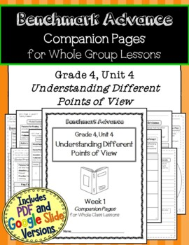 Benchmark Advance Companion Pages * Grade 4, Unit 4