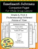 Benchmark Advance Companion Pages * Grade 4, Unit 4 * GOOGLE and Print Versions