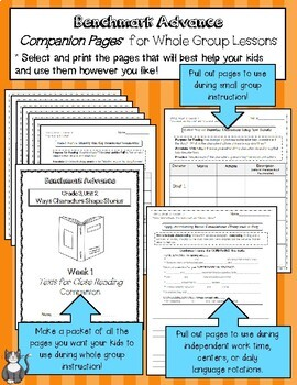 Benchmark Advance Texts for Close Reading Companion Pages * Grade 4, Unit 5