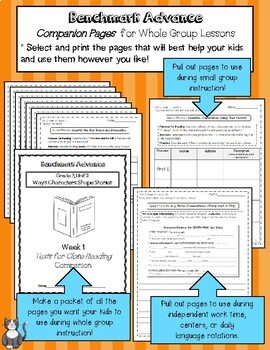 Benchmark Advance Texts for Close Reading Companion Pages * Grade 4, Unit 6