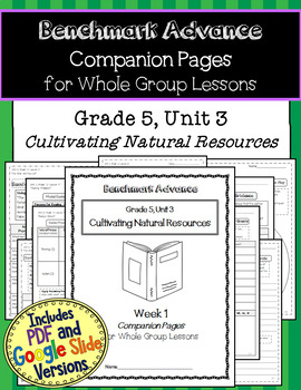 Benchmark Advance Texts for Close Reading Companion Pages * Grade 5, Unit 3