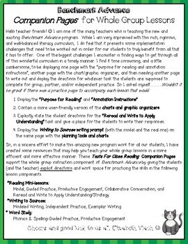 Benchmark Advance Close Reading Companion Pages* Grade 5, Unit 4