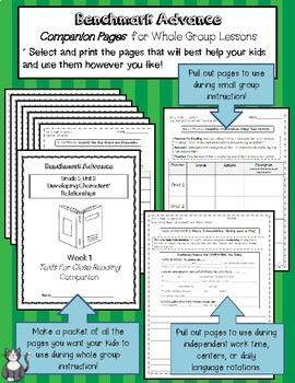 Benchmark Advance Texts for Close Reading Companion Pages * Grade 5, Unit 5