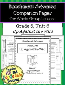 Benchmark Advance Companion Pages * Grade 5, Unit 6