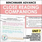 Benchmark Advance Close Reading Companions (Fourth Grade, Unit 7)