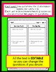 Benchmark Advance Comprehension Questions 1st Grade - EDITABLE