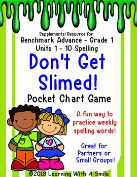 Benchmark Advance DON'T GET SLIMED! Pocket Chart Game