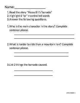 Benchmark Advance Decodable Passage Comprehension Questions