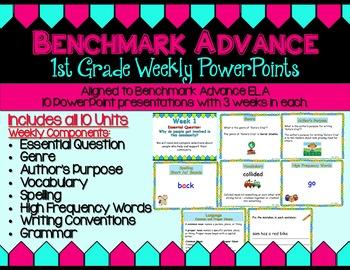 Benchmark Advance ELA PowerPoint Companion - First Grade