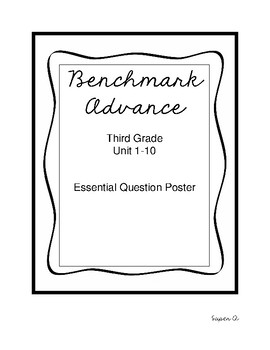 Benchmark Advance Essential Question Posters