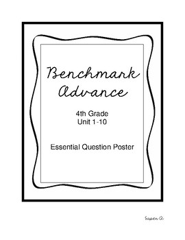 Benchmark Advance Essential Question Posters Grade 4