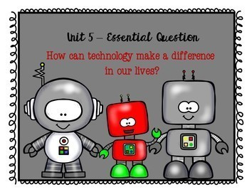 Benchmark Advance Essential Question Posters First Grade Units 1 - 10