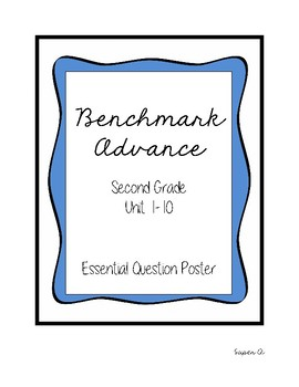 Benchmark Advance Essential Question Posters Grade 2