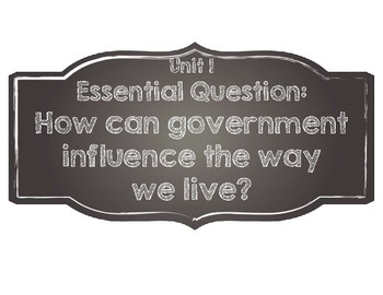 Benchmark Advance Essential Questions 4th FOURTH grade- Simple Chalkboard Style