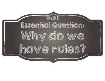 Benchmark Advance Essential Questions-Kindergarten-Chalkboard Style