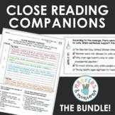 Benchmark Advance Fifth Grade Close Reading Companions BUNDLE! (Units 1-10)