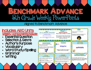Benchmark Advance Fifth Grade PowerPoint Companion Units 1 - 10