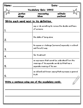 Benchmark Advance Fifth Grade Weekly Vocabulary Quizzes (National)
