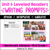Benchmark Advance - First Grade - Unit 1, Leveled Readers Writing Prompts