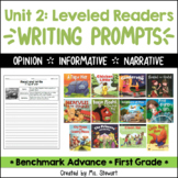 Benchmark Advance - First Grade - Unit 2, Leveled Readers Writing Prompts