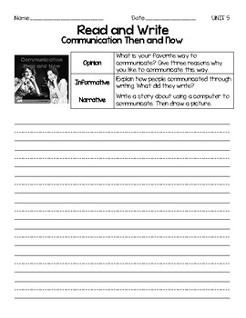 Benchmark Advance, First (1st) Grade, Unit 5, Leveled Readers Writing Prompts
