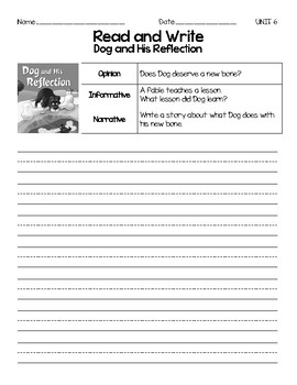 Benchmark Advance, First (1st) Grade, Unit 6, Leveled Readers Writing Prompts