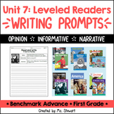 Benchmark Advance - First Grade - Unit 7, Leveled Readers Writing Prompts