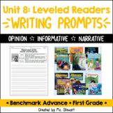Benchmark Advance - First Grade - Unit 8, Leveled Readers Writing Prompts
