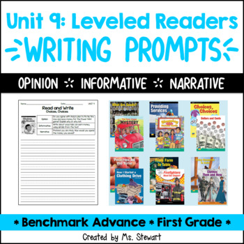 Benchmark Advance - First Grade - Unit 9, Leveled Readers Writing Prompts