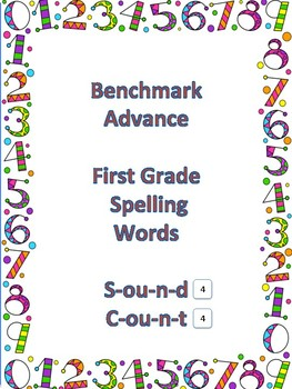 Benchmark Advance First Grace Spelling- Sound Count