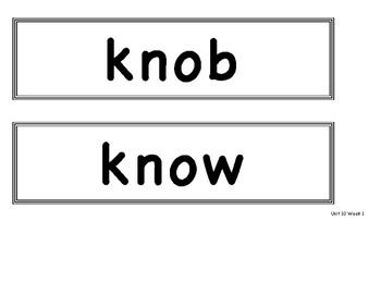 Benchmark Advance First Grade - Bulletin Board Spelling Words Unit 10