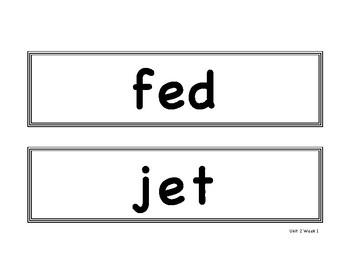 Benchmark Advance First Grade - Bulletin Board Spelling Words Unit 2
