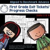 Benchmark Advance - First Grade Exit Tickets and Progress