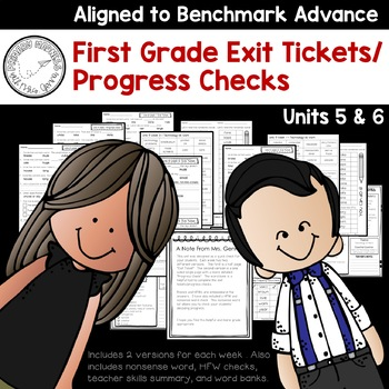 Benchmark Advance - First Grade Exit Tickets and Progress Checks Units 5 & 6