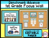 Benchmark Advance 1st Grade Focus Wall Posters Units 1-10